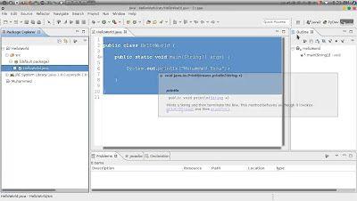 12 Java Exploring Eclipse IDE جافا نظرة عن قرب للبيئة التطويرية المتكاملة http://ift.tt/2rU0xKX تعلم لغة جافا دورة جافا للمبتدئين كورس Java محمد عيسى