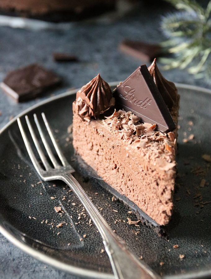 chokladcheesecake på cookie botten