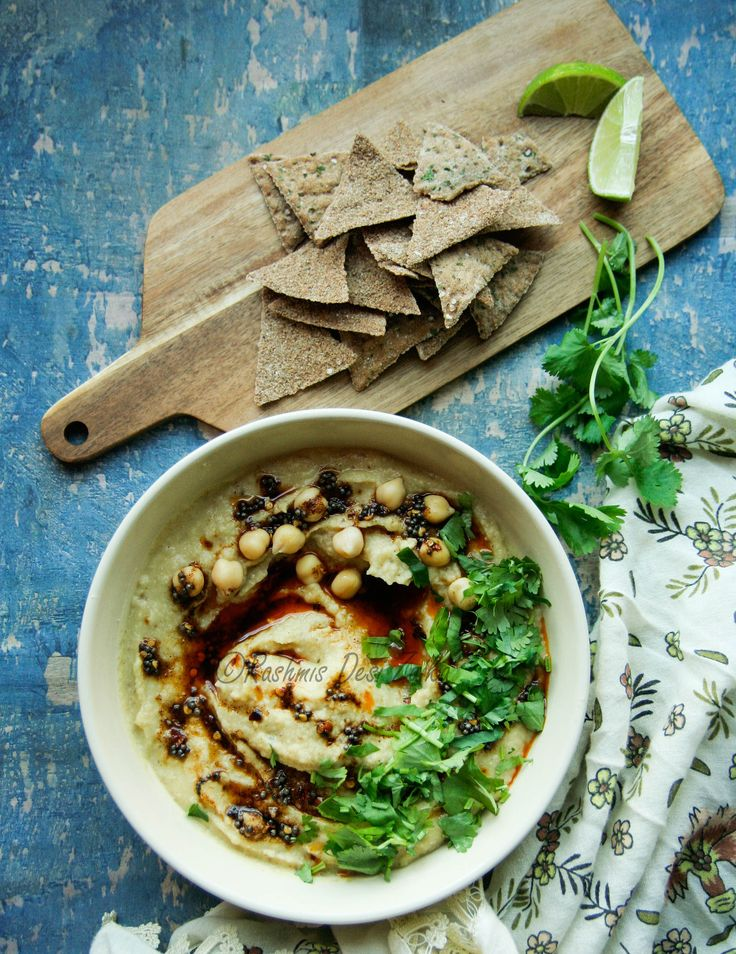 Tempered Hummus Dip Perfect dip for your parties and get together #hummus #food  #mediterranean  #partyfood