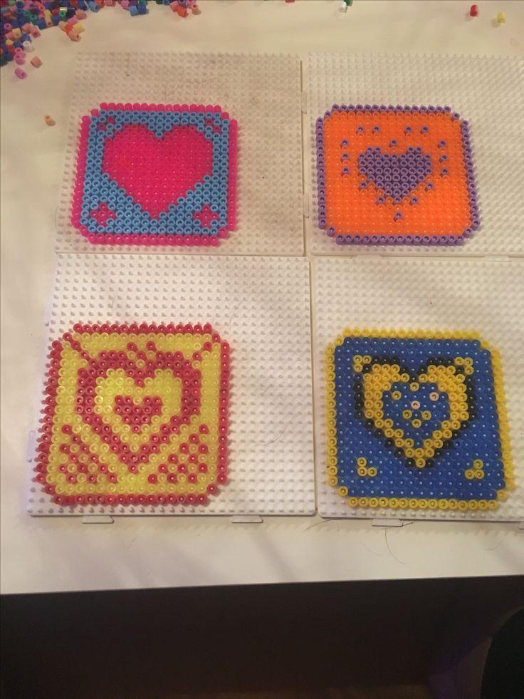 Heart Coasters hama perler / beads