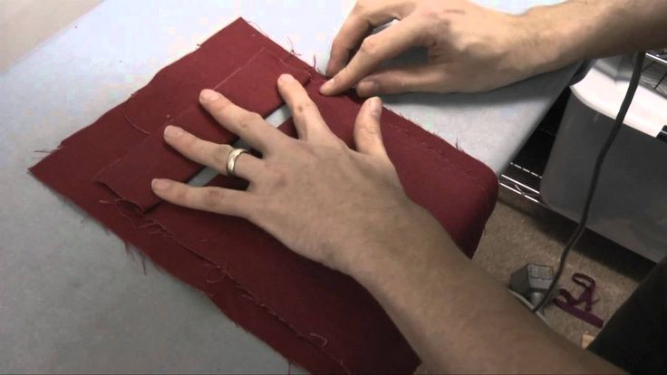 How to sew a welt pocket - This is a GENIUS method for making a welt pocket. Totally going to have to try this on my next vest.