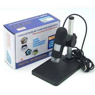 GAOSUO 500X Digital Adjustable 8 LED USB Microscope Magnifier Measurement Function Sale - Banggood.com