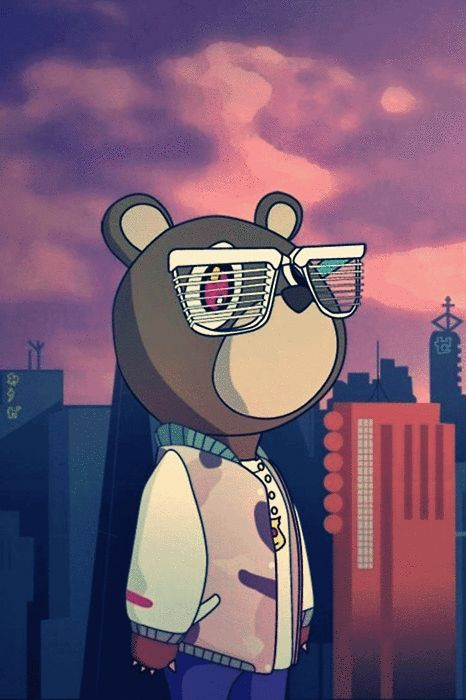 dope swag | Dope Bear Kanye West Doodles Cute Cartoon Drawings Gif Swag Obey