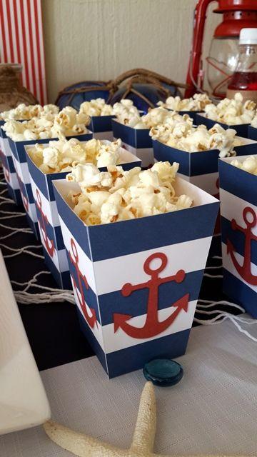 Nautical Popcorn Boxes