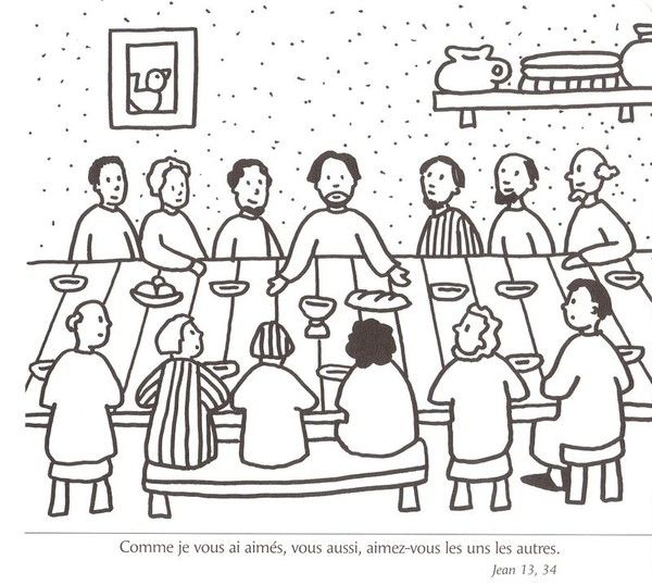 Matthew 26:17-30; Mark 14:12-26; Luke 22:7-23: Preparation for' Passover; Coloring Page