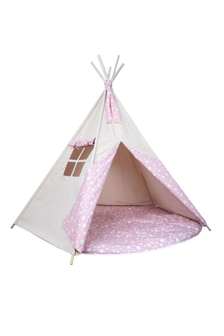 Teepee Pink Stars de @barrutoys  #tipiestrellas #tipirosa #tipiestrellas #tiendaindios