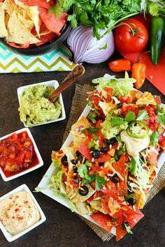 Loaded Vegan Nacho Plate - ilovevegan.com (Nick gives 8.5/10)