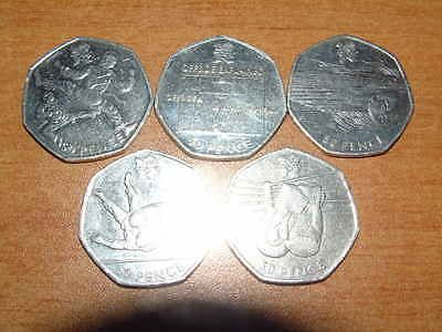 5x 2012 #olympics 50p coins #circulated - #boxing judo swimming football taekwond,  View more on the LINK: 	http://www.zeppy.io/product/gb/2/182403931019/