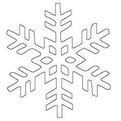 Ausmalbild Schneeflocken und Sterne: Kostenlose Malvorlage: Schneeflocke 8 kostenlos ausdrucken