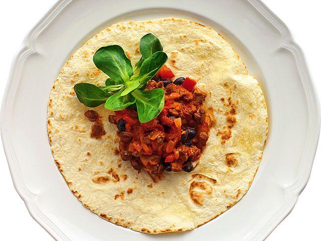 Tortillas med bönor och biff (kock recept.nu)