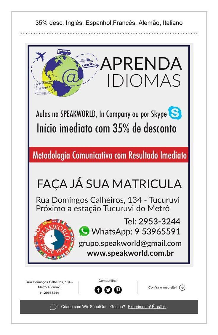 """A SPEAKWORLD LANGUAGE SERVICES foi fundada em 1992 por Luiz Antônio Lindo, Professor Doutor da Faculdade de Filosofia Letras e Ciências Humanas da Universidade de São Paulo (USP), a maior e mais respeitada Universidade da América Latina e tem como filosofia de trabalho o aprimoramento técnico e cultural de seus alunos em seu mais alto grau. A SPEAKWORLD LANGUAGE SERVICES oferece, além dos cursos de idiomas com aulas presencias em uma de nossas unidades ou """"In Company"""", aulas por Skype…"""