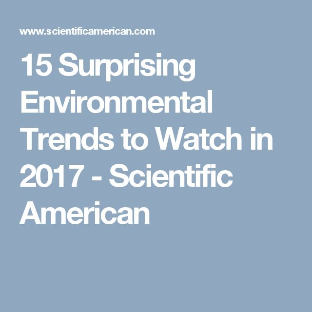 15 Surprising Environmental Trends to Watch in 2017 - Scientific American