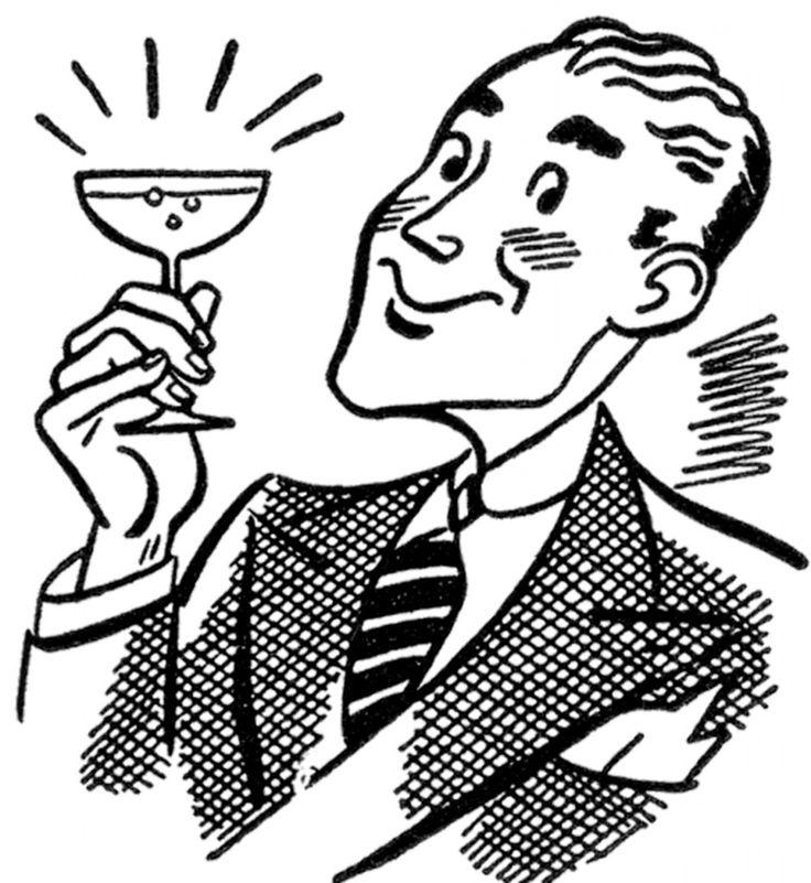 Retro Martini Man Image - The Graphics Fairy