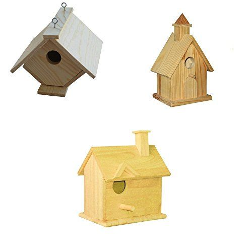 3 Assorted Bird House Kits - Assortment II >>> Learn more by visiting the image link.