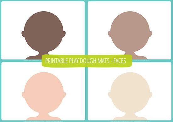 People Play Dough Mats - Free Printable !  Use playdoh or a whiteboard marker to practice words like eyes, nose.