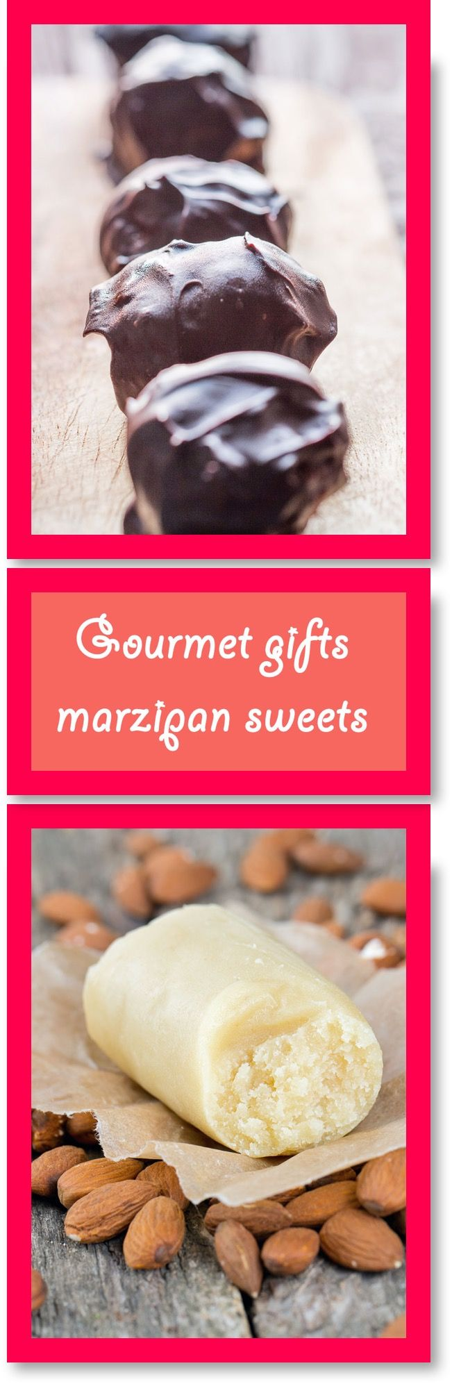 Save money this Christmas and make your own gourmet gifts and hampers! These are really easy to make and are a great way of using up left over marzipan.