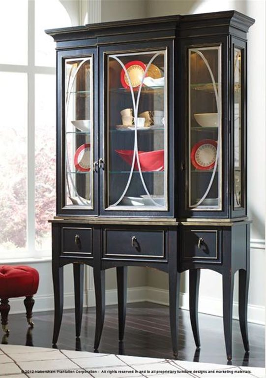 habersham plantation corporation dining room classic curio with antique mirror back - Habersham Furniture
