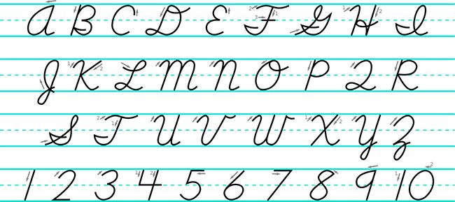 Cursive Uppercase Teaching Order