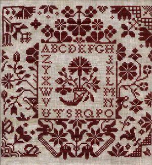 Quaker Floral - Midnight Stitching
