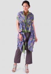 TRE Batik  TRE Batik Cardigan Batik Purple