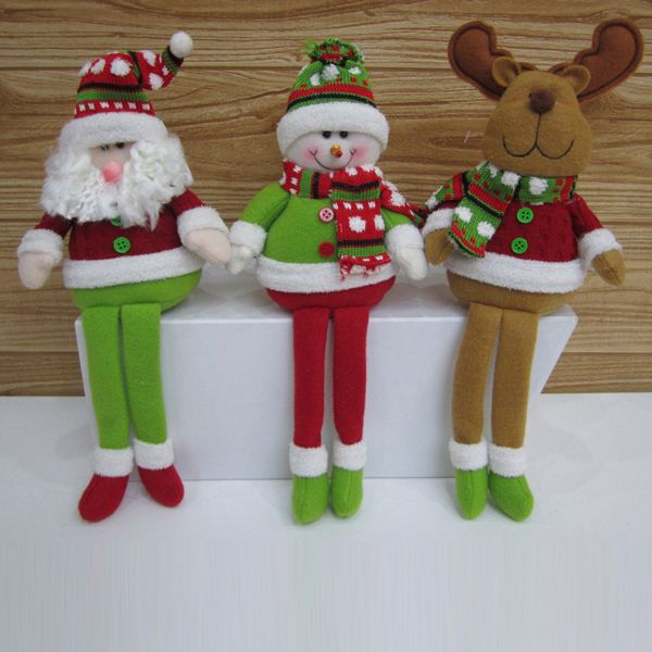 Aliexpress.com : Buy Free shipping lovely Christmas decoration long legs santa clause snow man reindeer table decoration SHB030 from Reliable christmas tree table decoration suppliers on Men's choice $7.19