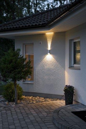 Grijs gelakte aluminium buitenlamp. Wandlamp Konstsmide