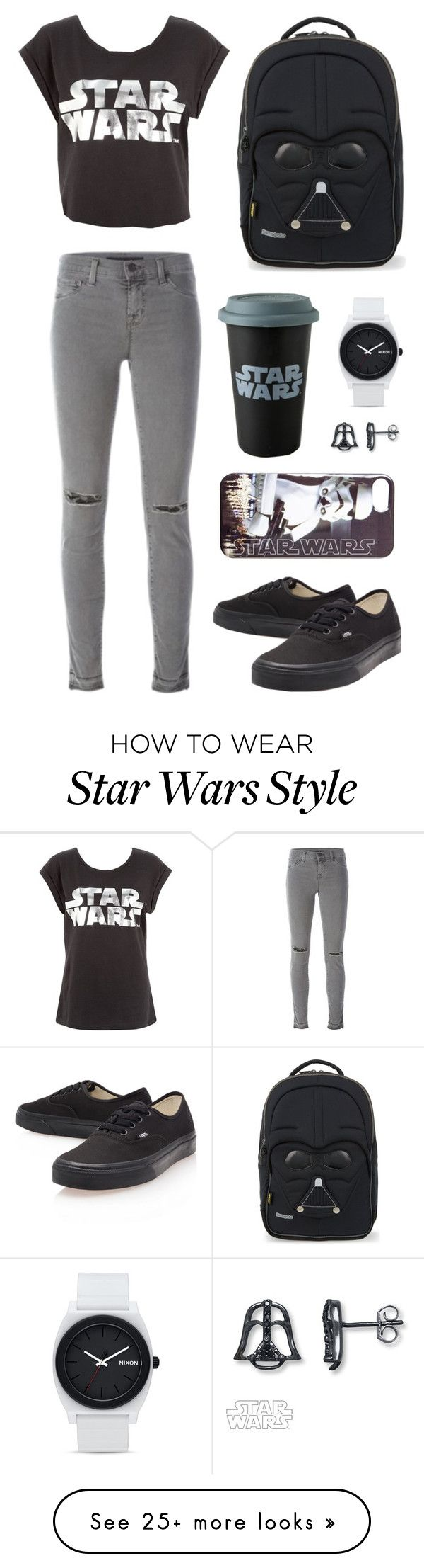 """Star Wars"" by picky-picky on Polyvore featuring J Brand, Vans, Samsonite and Nixon"