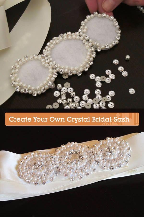 Cinturón DIY para vestido de novia / https://crafts.tutsplus.com