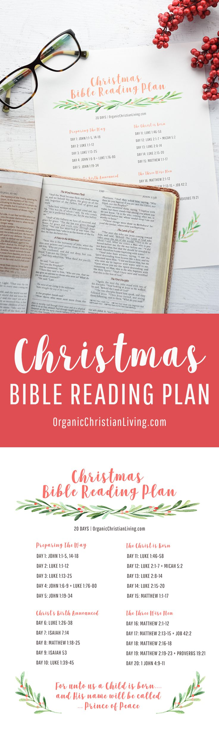 Christmas Bible Reading Plan | Bible Lessons | Bible Studies for Beginners