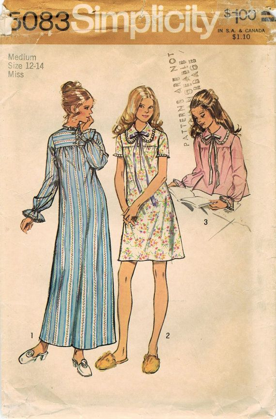 1970s Simplicity 5083 Vintage Sewing Pattern by midvalecottage