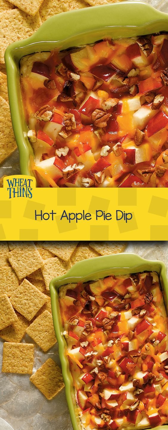 "The essence of fall in a crave-worthy recipe, you'll love ""warming up"" with our Hot Apple Pie Dip. Apple, pecans, and pumpkin spice blend together for the perfect seasonal dish. Serve with whole grain WHEAT THINS Original Snacks."