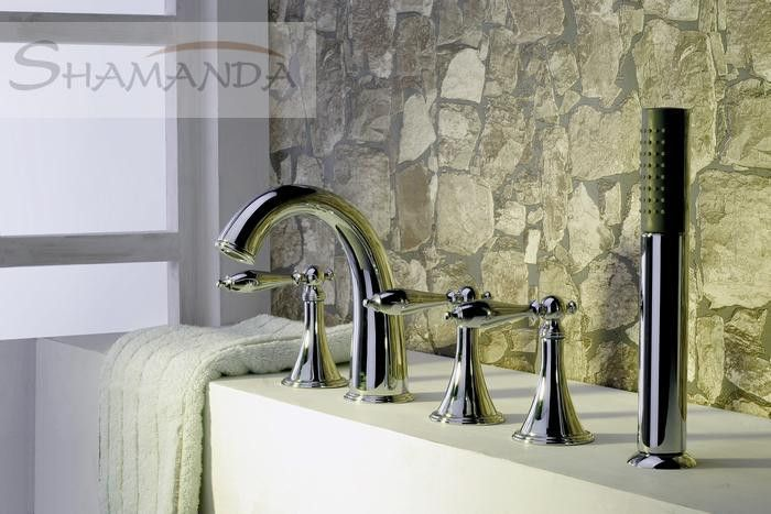 2016 New New Arrival Contemporary 2.1-3kg -solid Finishing 5 Holes Square Bathtub Faucet Mixer Tap-wholesale-2433 - ICON2 Luxury Designer Fixures  2016 #New #New #Arrival #Contemporary #2.1-3kg #-solid #Finishing #5 #Holes #Square #Bathtub #Faucet #Mixer #Tap-wholesale-2433