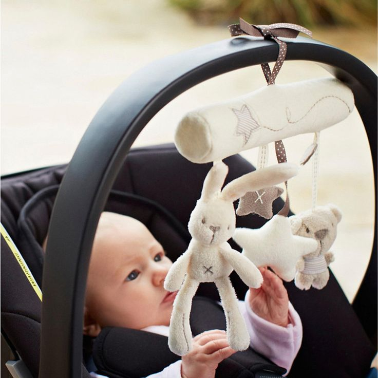 Stroller Bells Kids Baby Soft Animal Musical Hanging Toy Bed Cute Multifunctional Plush Stroller Accessories BB0083