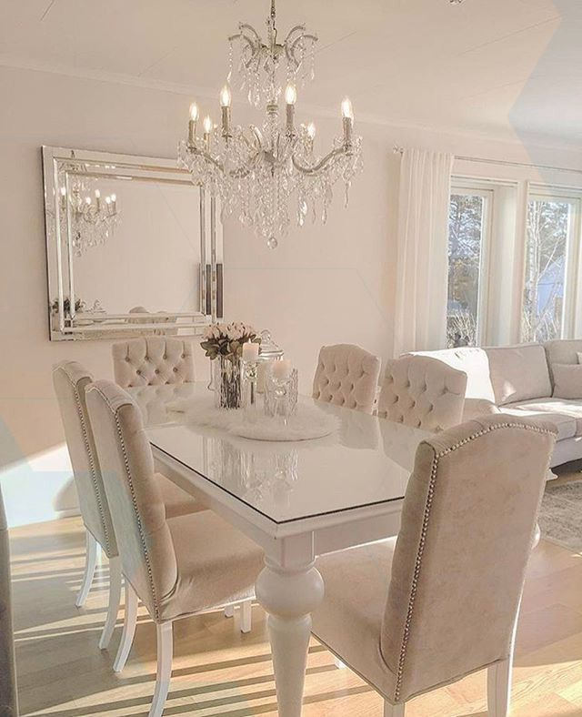 Silver And Cream Colored Dining Room Luxury Dining Room Dining Room Cozy Beautiful Dining Rooms
