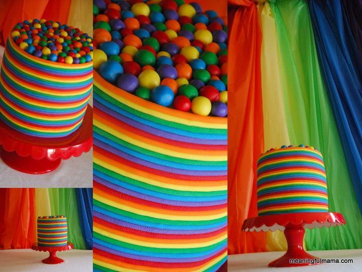 Homemade Birthday Cakes For Boys | Day #84 - Rainbow Birthday Cake - Meaningfulmama.com
