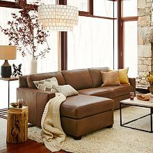 Henry® Leather 2-Piece Chaise Sectional - Molasses