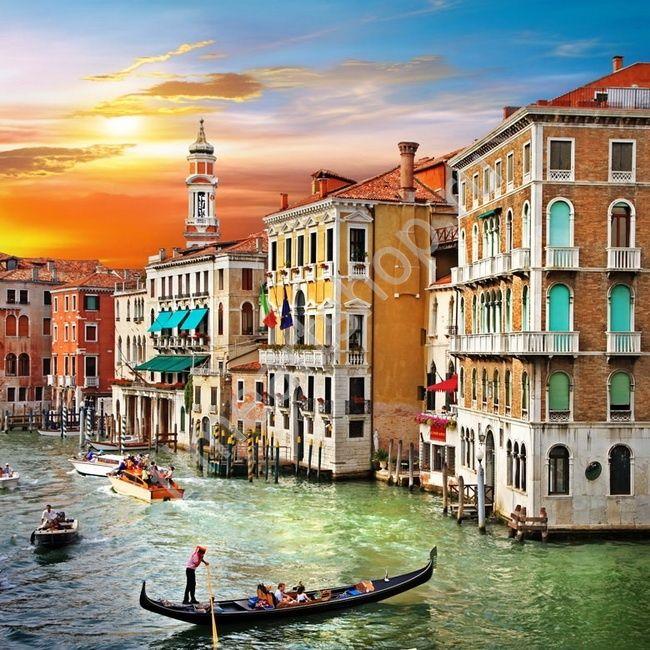 Романтические каникулы в Венеции, алмазная мозаика (алмазная вышивка) полная выкладка, размер 50*50см