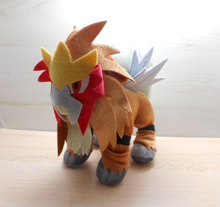 Pokemon Entei Plush Banpresto Doll 2010 Shiny Stuffed Figure Movie 2010 L #Banpresto