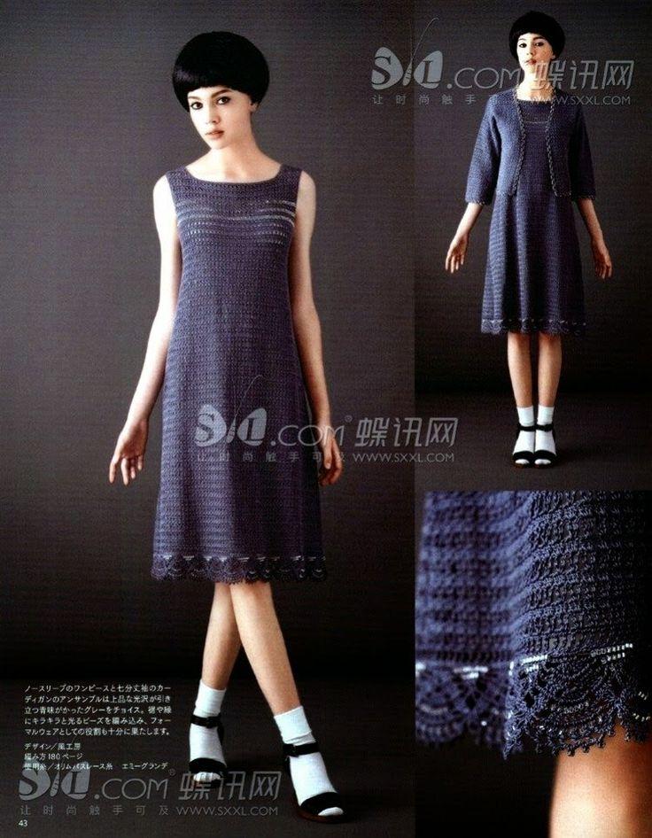Мир хобби: Комплект из платья и жакета (вязание крючком)