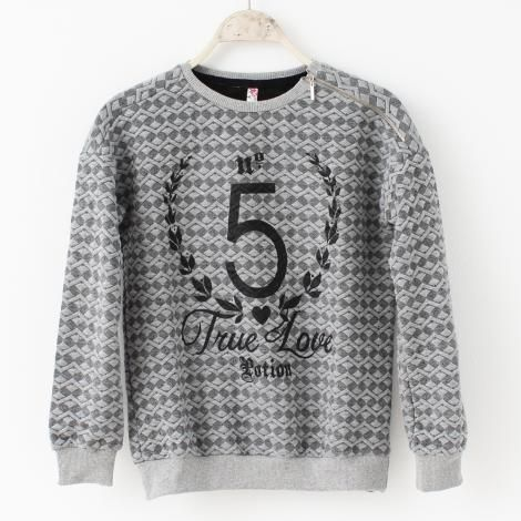 Μπλούζα απο λεπτό φούτερ γυναικεία με φερμουάρ στον ώμο €15,00