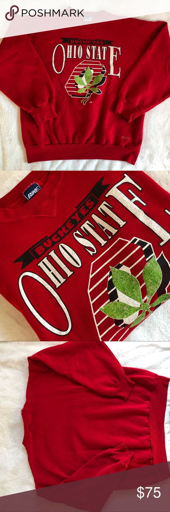VINTAGE Ohio State pull over ☘️ cozy pull over sweater! Size XL. Can fit a man or be a baggy boyfriend sweater for a women!☘️ either way is cute and works! Sweaters