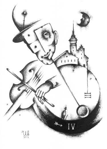 Violinist by #eugeneivanov, 29 X 41 cm, $235.  #@eugene_1_ivanov #modern #original #ink #painting #hipster #sale #art_for_sale #original_art_for_sale #modern_art_for_sale #ink_drawing_for_sale #art_for_sale_artworks #art_for_sale_ink #art_for_sale_artist #art_for_sale_eugene_ivanov #abstract #best_abstract_art #best_abstract_ink