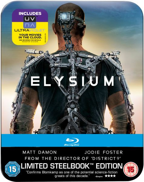 ELYSIUM – Limited Edition Steelbook Blu-Ray £11.99