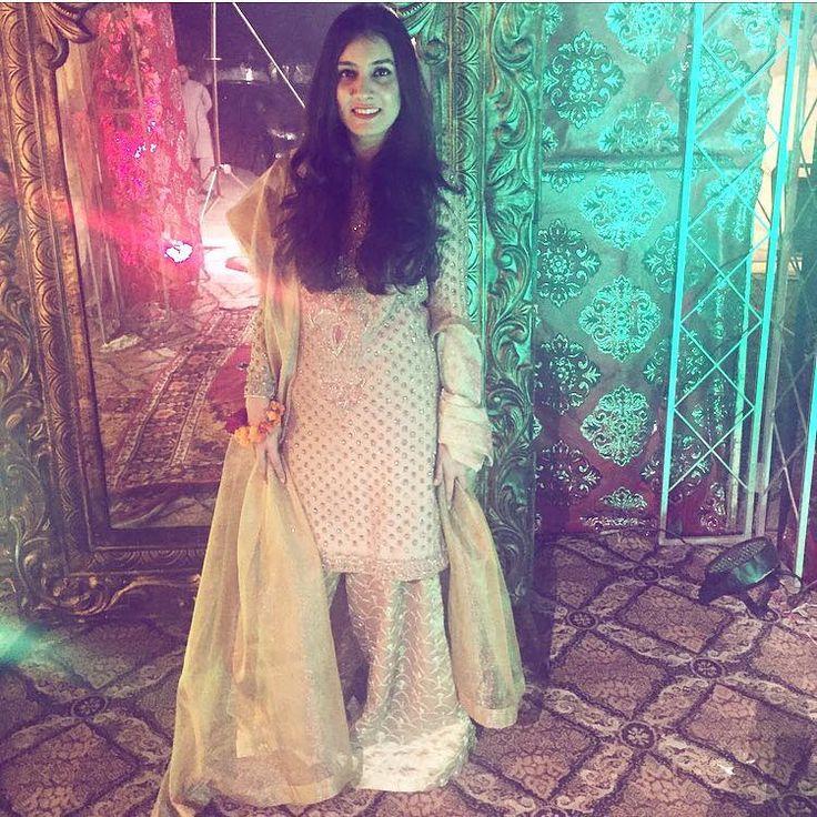 Our very own Neha Nasim wearing one of our formals. #zarashahjahan #luxury #heritage #bridals #vintage #lahore #delhi #dubai
