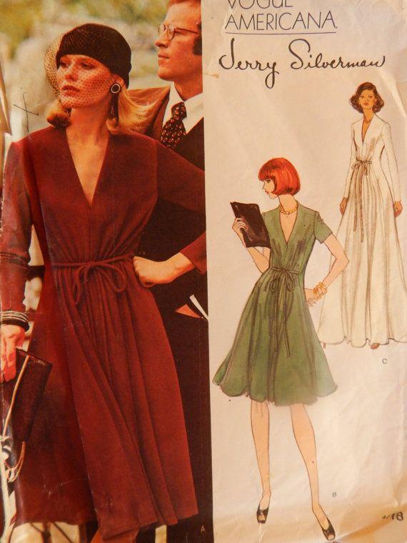70s Jerry Silverman Evening Maxi Dress Vogue by chicpatternstudio
