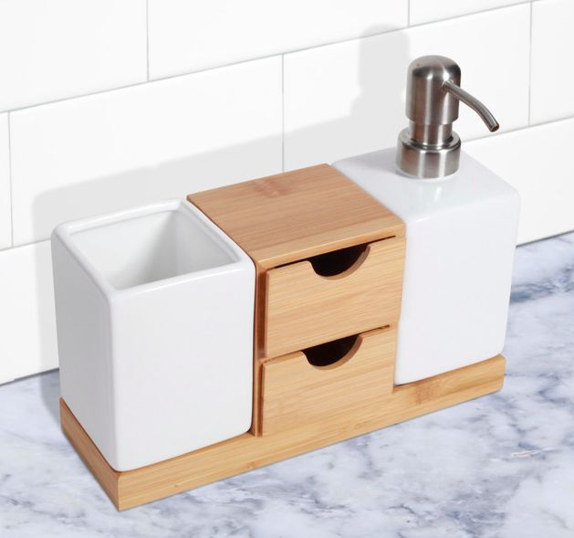 http://www.houzz.com/photos/32417224/Bamboo-Soap-Dispenser-and-Caddy-scandinavian-soap-and-lotion-dispensers