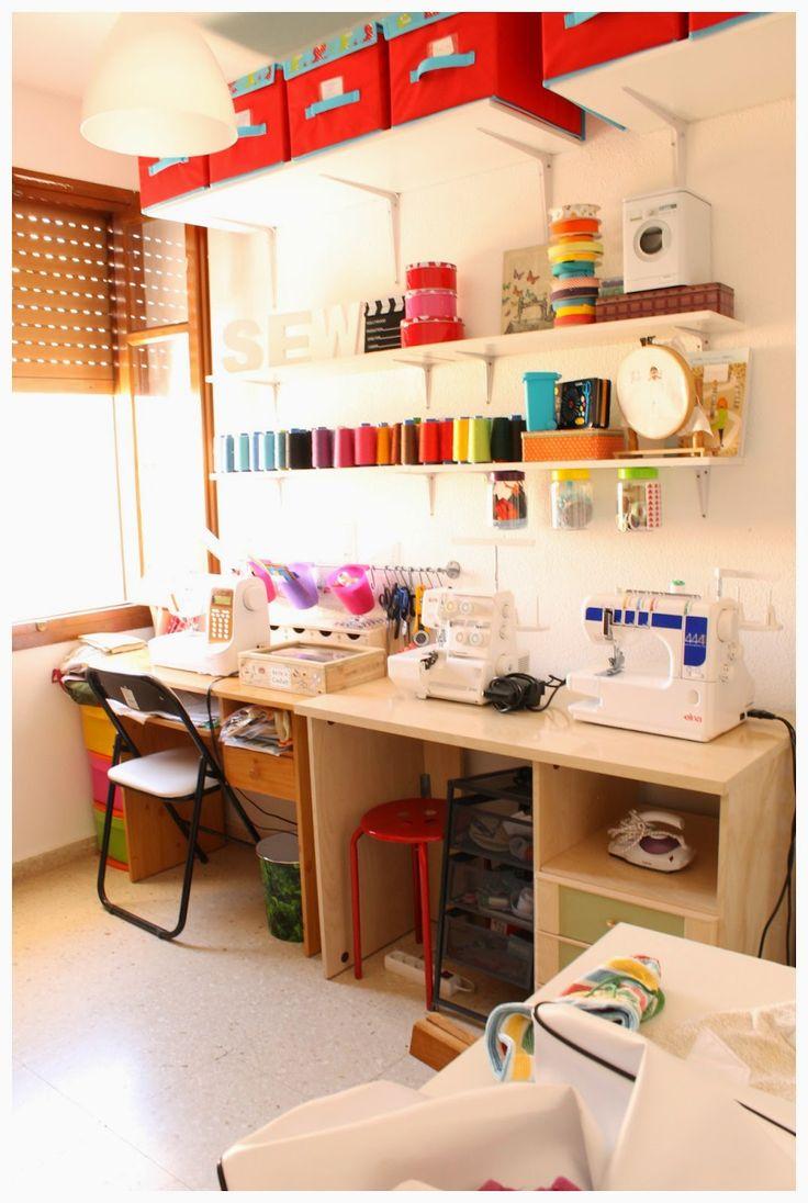 M s de 25 ideas incre bles sobre cuarto de costura en for Muebles para costura