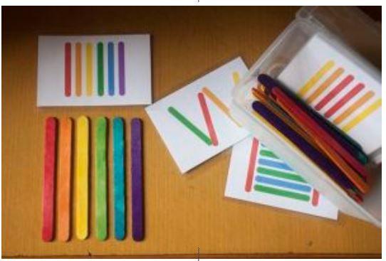 Batonnets de glace Topologie et couleurs  - La  petite et moyenne section d'Armelle