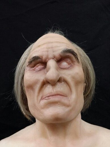 "Tall man from ""Phantasm"". Monster clay sculpture, platsil gel10 cast."