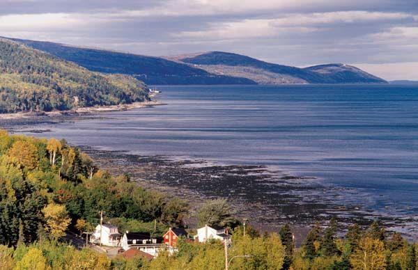 Charlevoix, Québec Avec un peu de chance, on peut y voir des baleines.